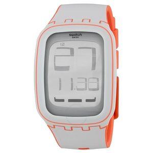 Unisex Swatch Touch White Digital Silicone Watch